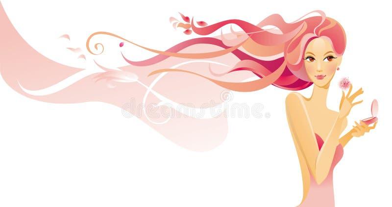 skönhetbegrepp vektor illustrationer