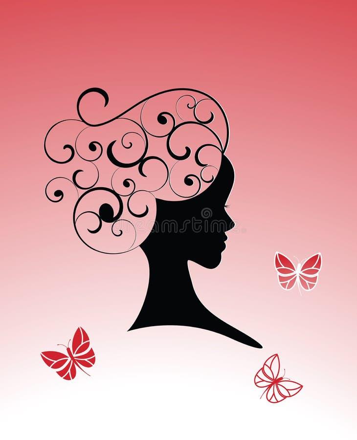 skönhetbegrepp stock illustrationer