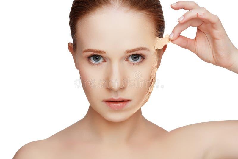 Skönhetbegreppsföryngring, förnyande, hudomsorg, hudproblem royaltyfria foton