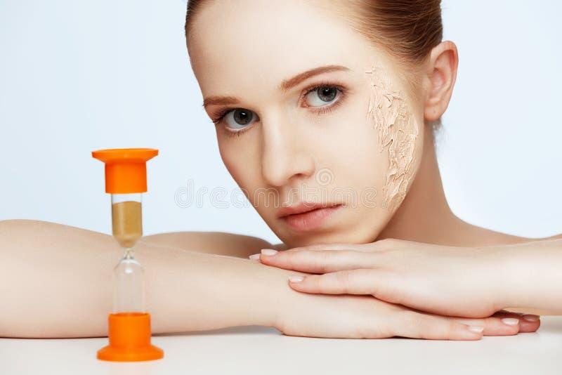 Skönhetbegreppsföryngring, förnyande, hudomsorg, hudproblem w royaltyfria foton