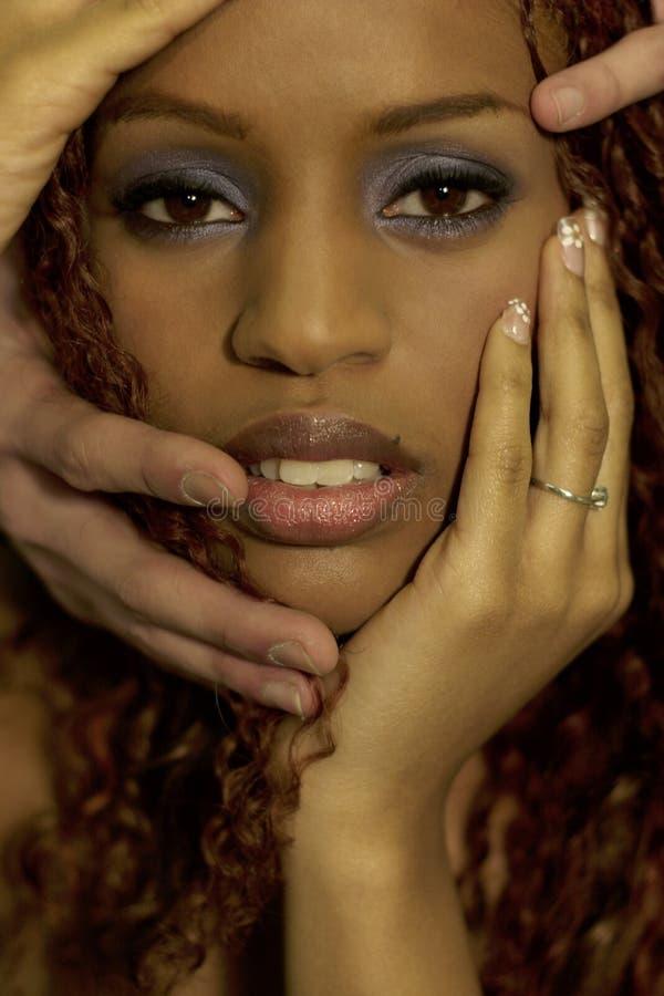 skönhetblack royaltyfri foto