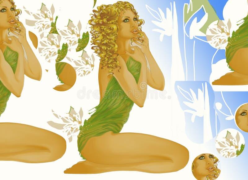 skönhetbrunnsort stock illustrationer