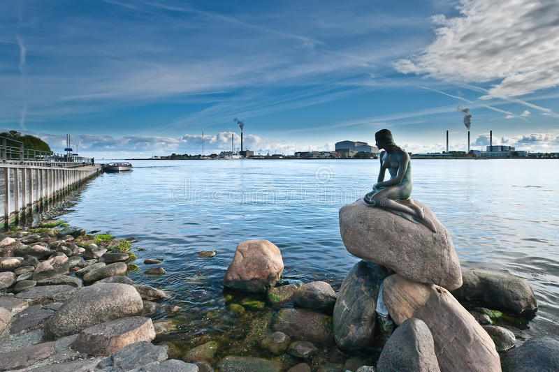 Skönheten av Danmark. royaltyfria bilder
