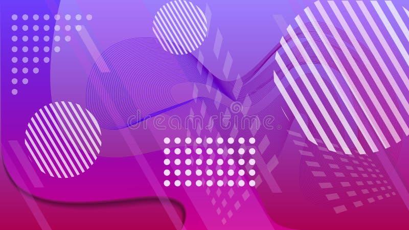 Skönheten av geometri och kaos f?rgrikt geometriskt f?r bakgrund Vätskefärg formar sammansättning abstrakt vektorillustration vektor illustrationer