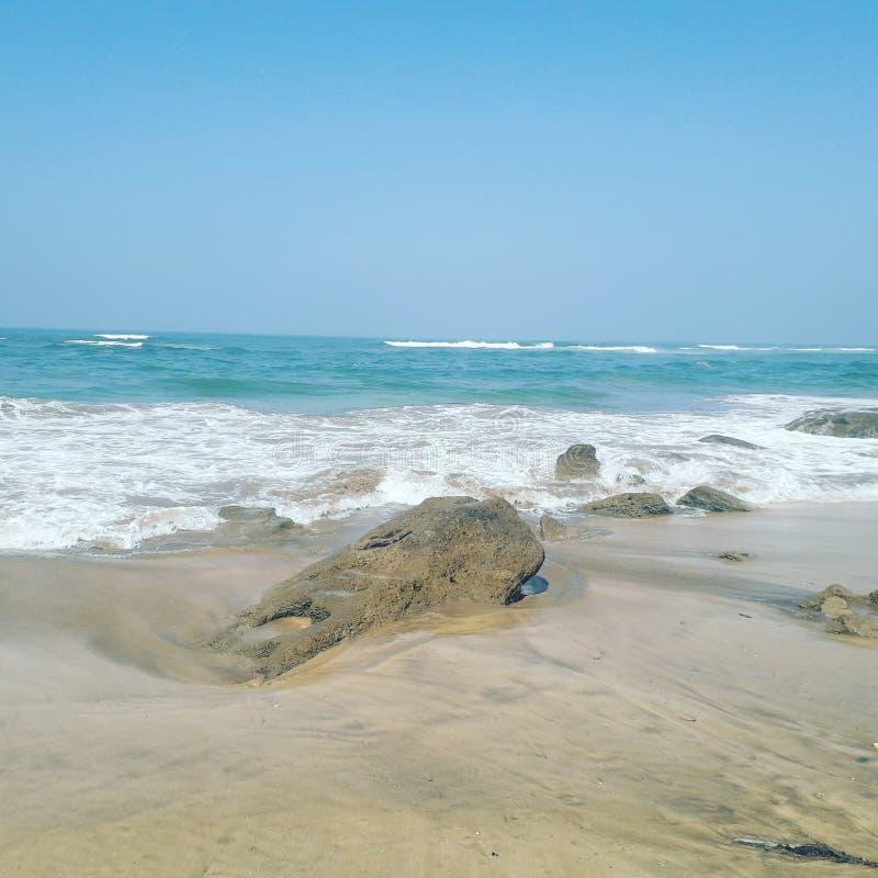 Skönheten av havet i Marocko royaltyfria foton