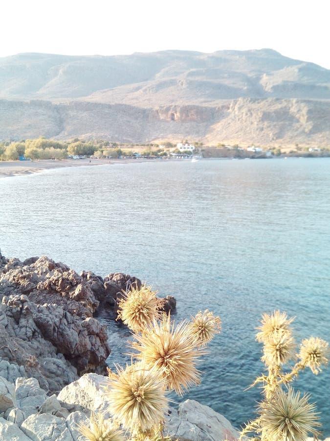 Skönheten av havet i slutet av dagen arkivfoton