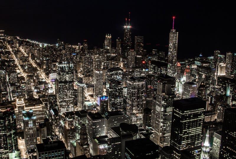 Skönheten av ljus i storstaden royaltyfri foto