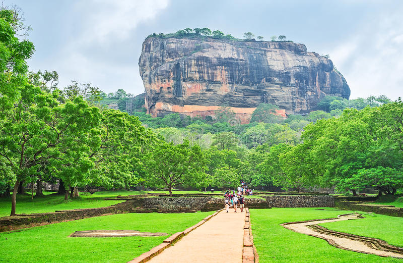 Skönheten av Sigiriya royaltyfri foto