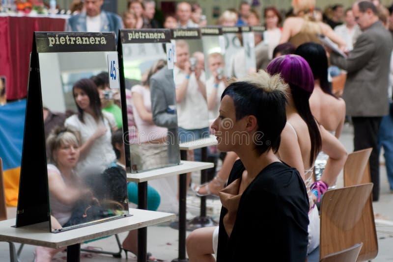 skönhetfestivalhår royaltyfri bild