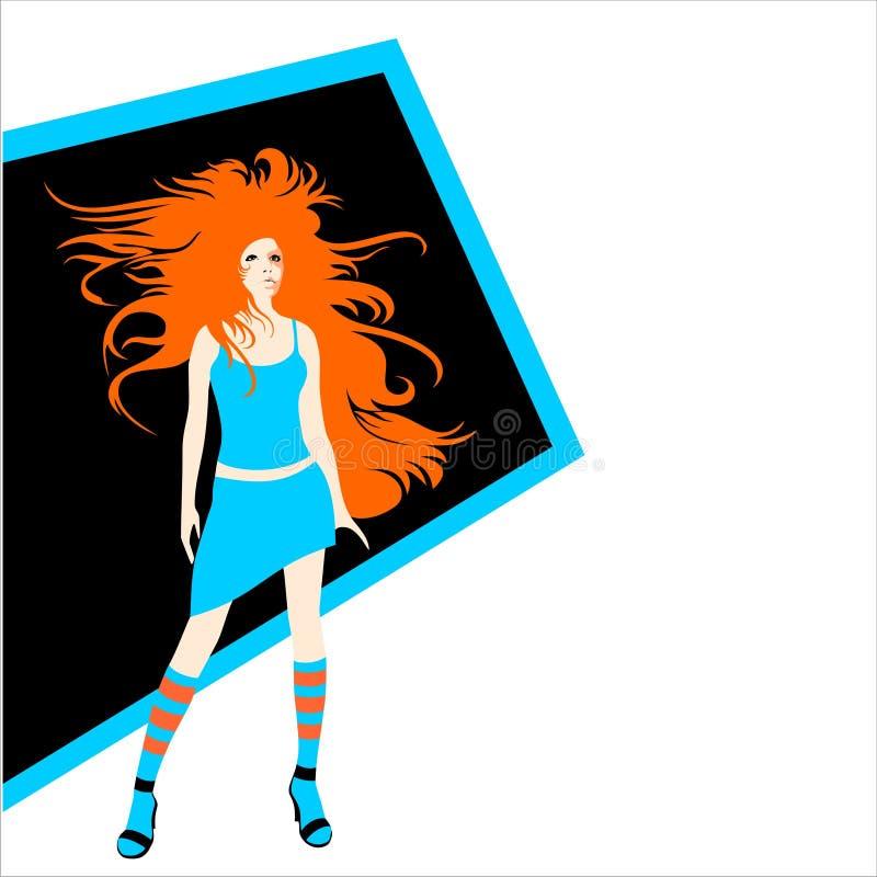 skönhetflicka vektor illustrationer