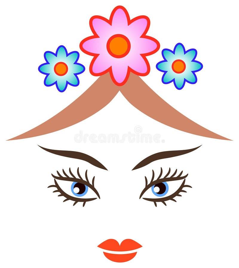 skönhetframsida royaltyfri illustrationer
