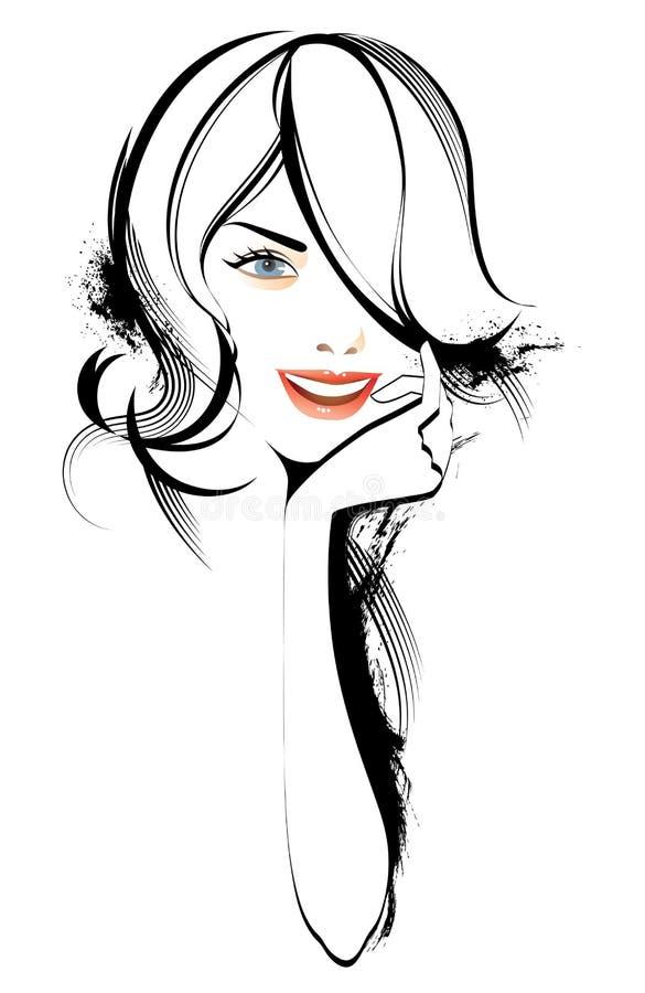 skönhetkvinna vektor illustrationer