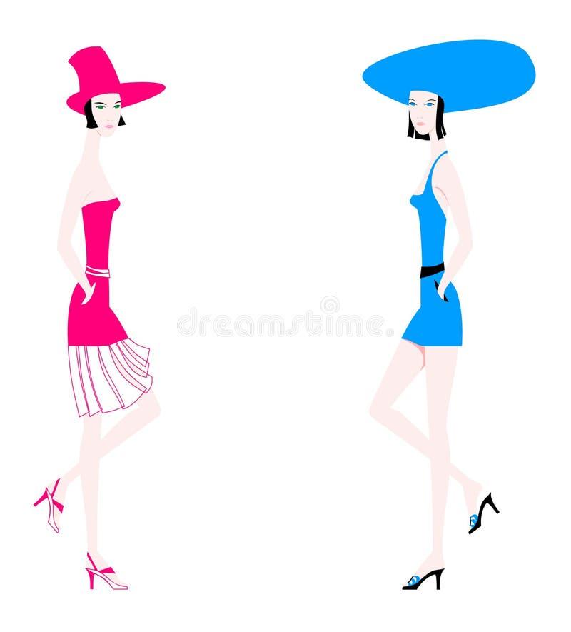 skönhetkvinnor vektor illustrationer