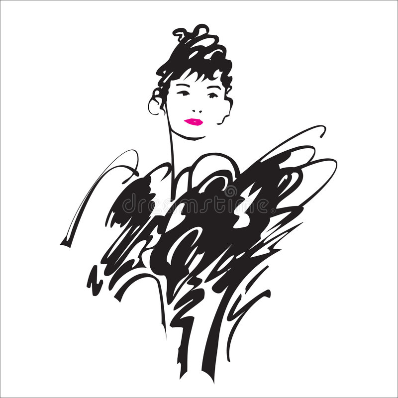 skönhetlady royaltyfri illustrationer