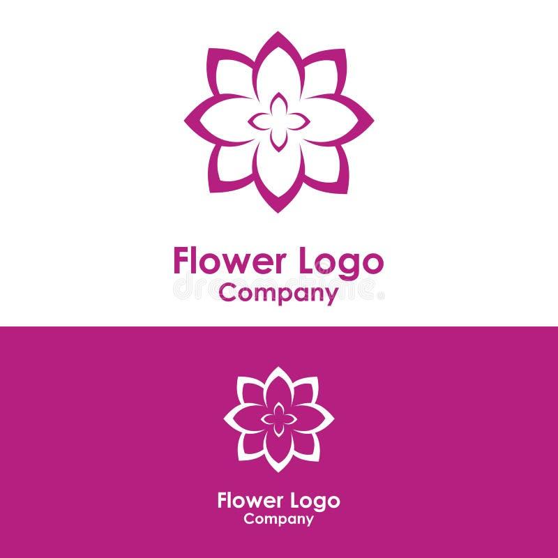 skönhetlogomall, lotusblommadesignvektor, symbol vektor illustrationer
