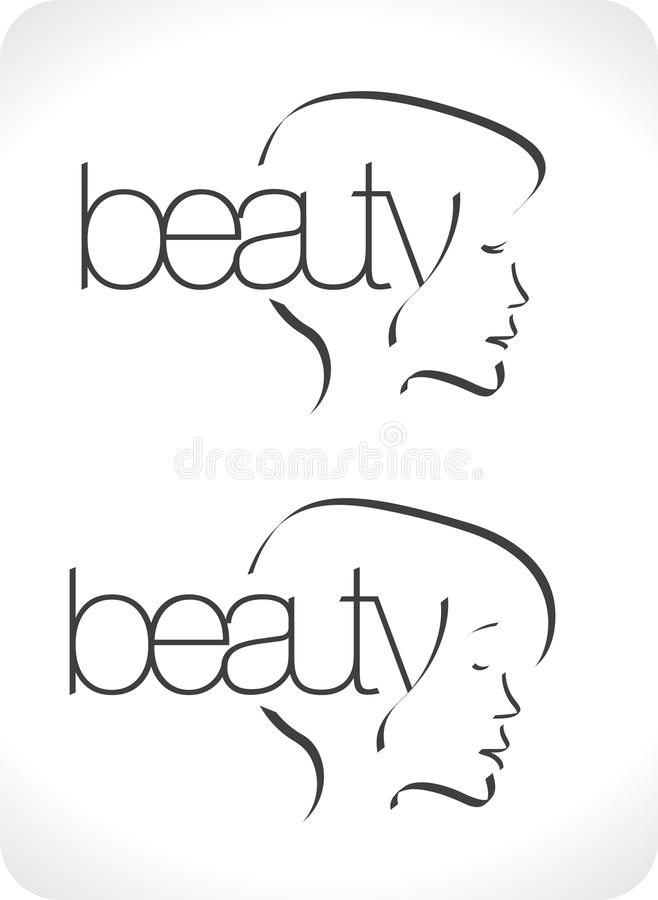 skönhetlogovardagsrum vektor illustrationer