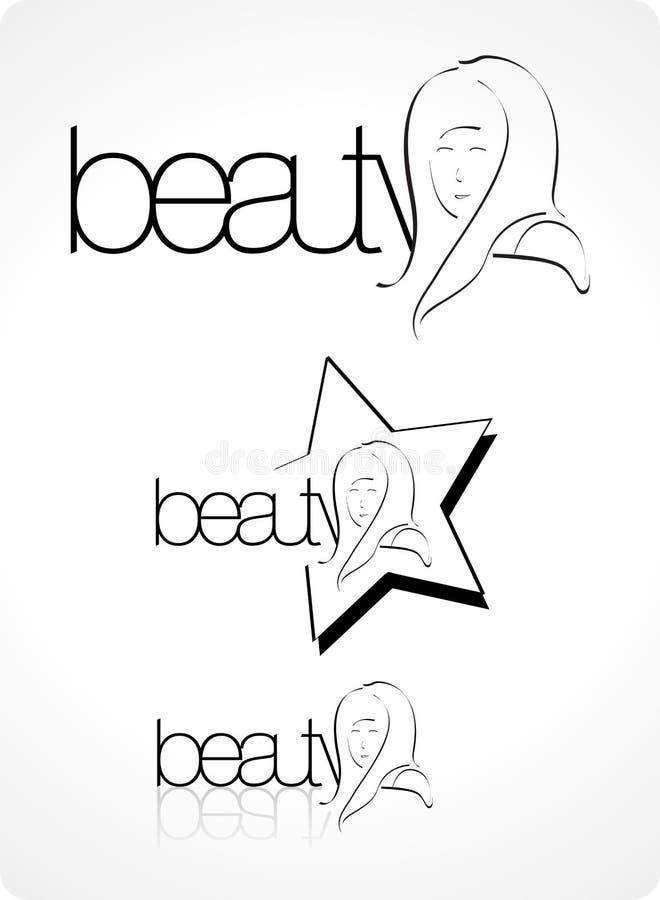skönhetlogovardagsrum royaltyfri illustrationer
