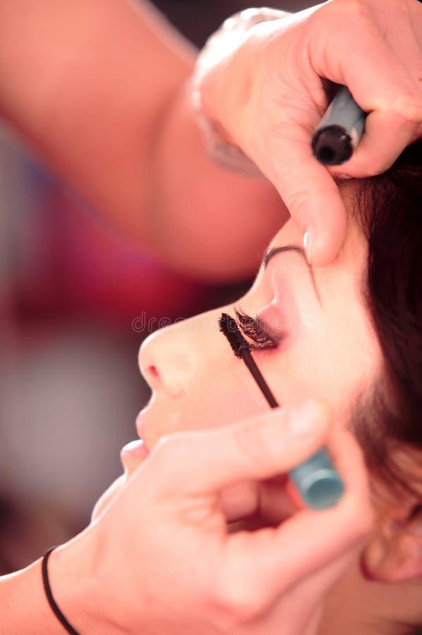skönhetmakeupbehandling fotografering för bildbyråer