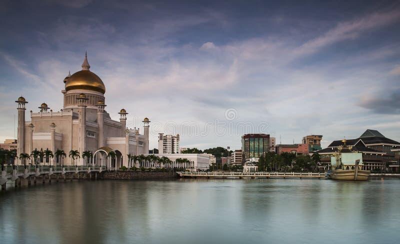 Skönhetmoské i Bandar Seri Begawan, Brunei Darussalam arkivbilder