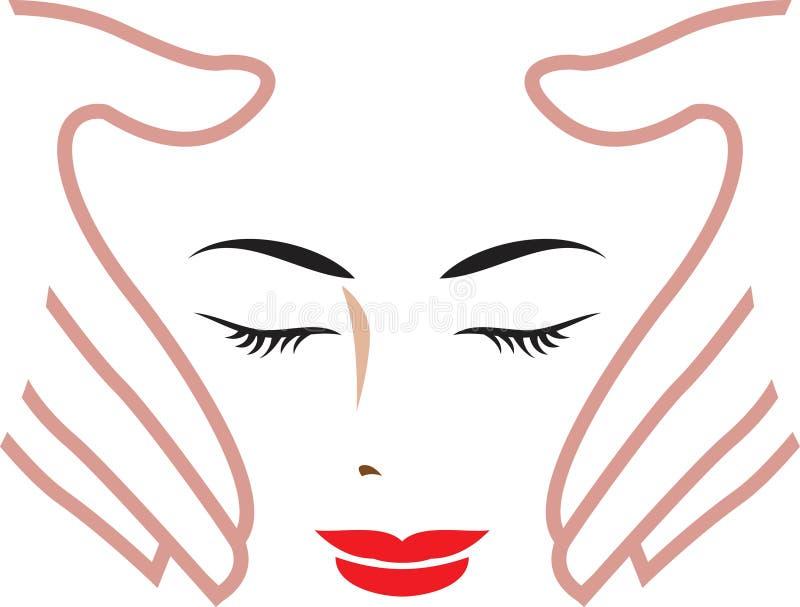 skönhetomsorg vektor illustrationer