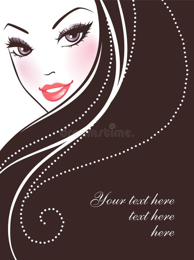 skönhetpic-kvinna stock illustrationer