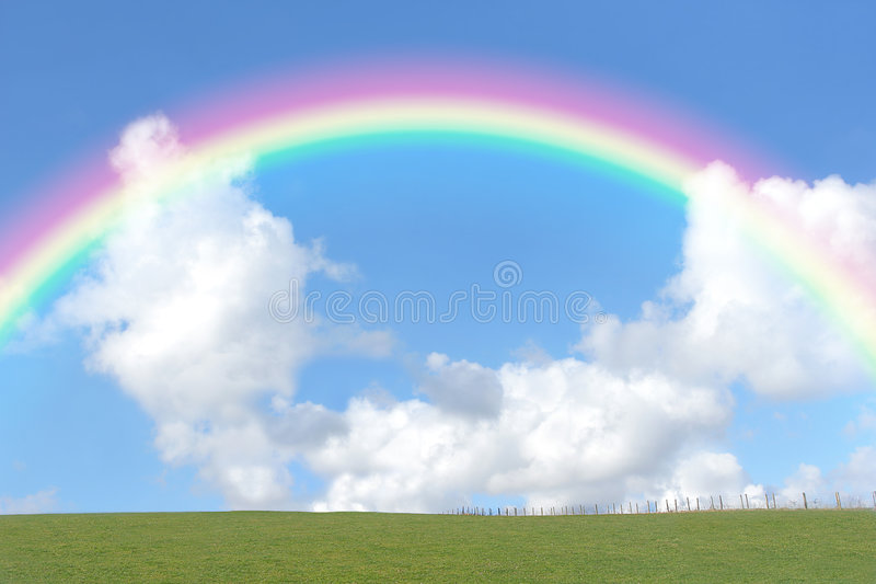 skönhetregnbåge arkivfoto