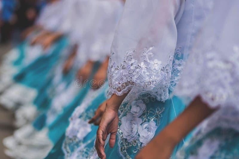 Skönhetshowkonkurrens i ett asiatiskt land royaltyfria bilder