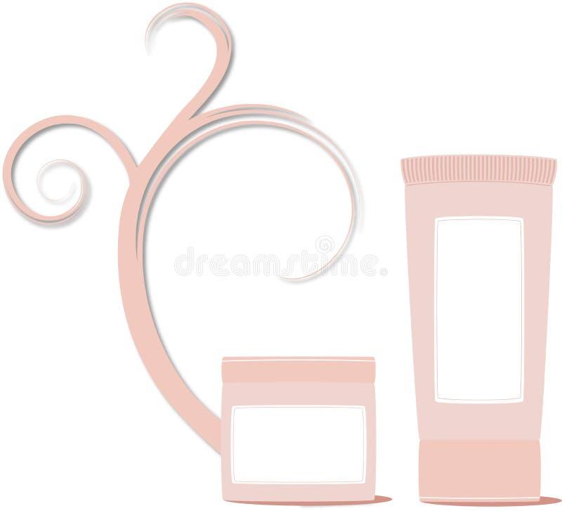 skönhetsmedelprodukter royaltyfri illustrationer