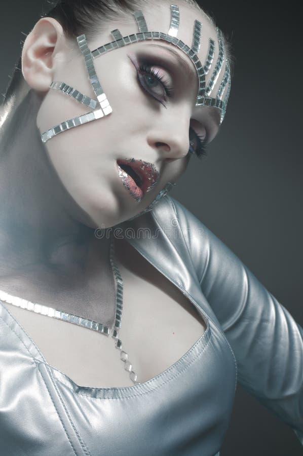 skönhetspegelståenden splittrar royaltyfria bilder