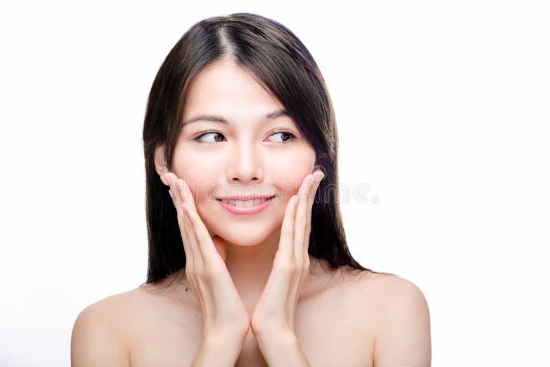 Skönhetstående av den asiatiska kvinnlign arkivfoton