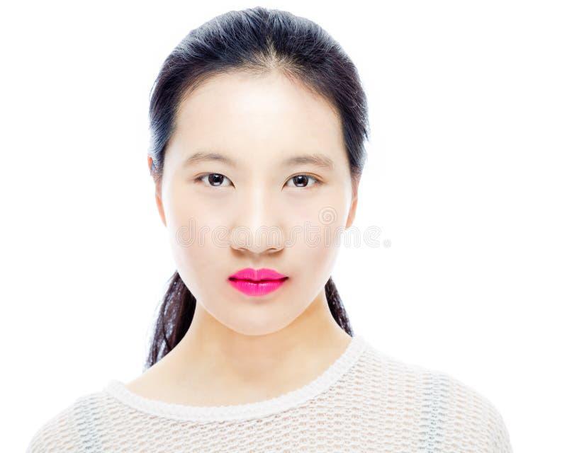 Skönhetstående av den kinesiska tonåringen arkivfoton