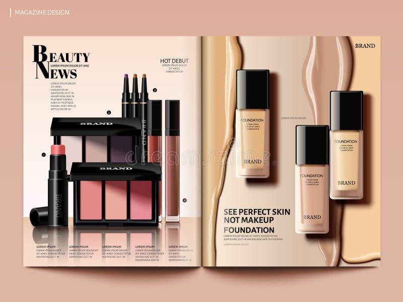 Skönhettidskriftdesign stock illustrationer