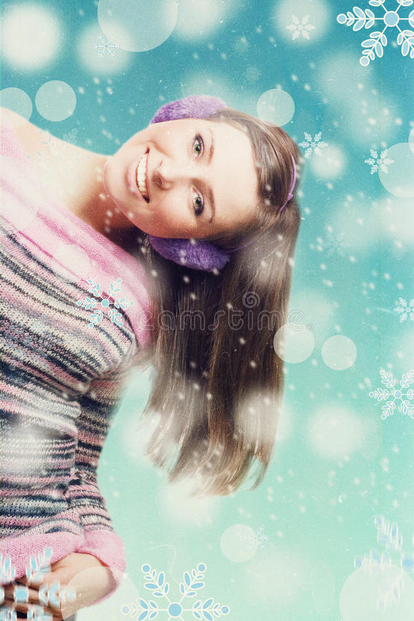 Skönhetung flicka royaltyfria bilder