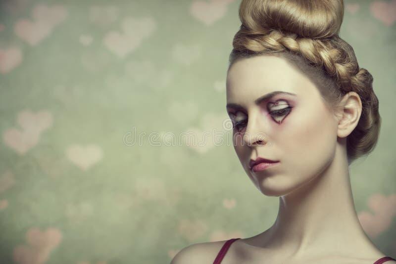 Skönhetvalentinkvinna royaltyfria bilder