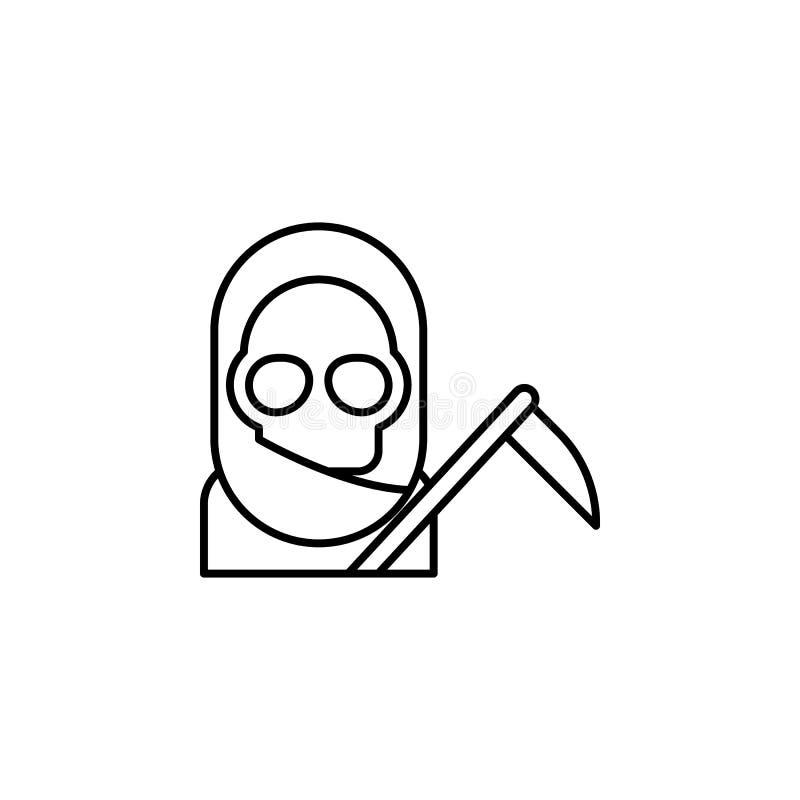 skördemaskin dödöversiktssymbol detaljerad uppsättning av dödillustrationsymboler Kan anv?ndas f?r reng?ringsduken, logoen, den m vektor illustrationer
