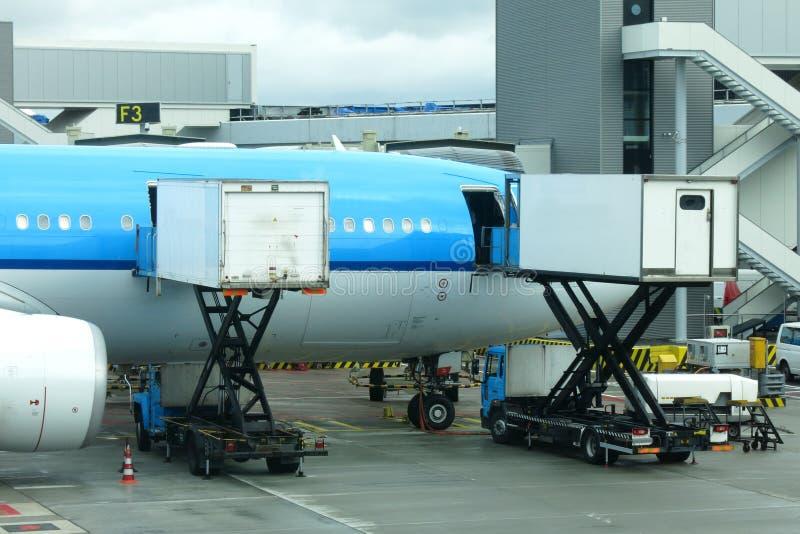 Sköta om för flygplan fotografering för bildbyråer