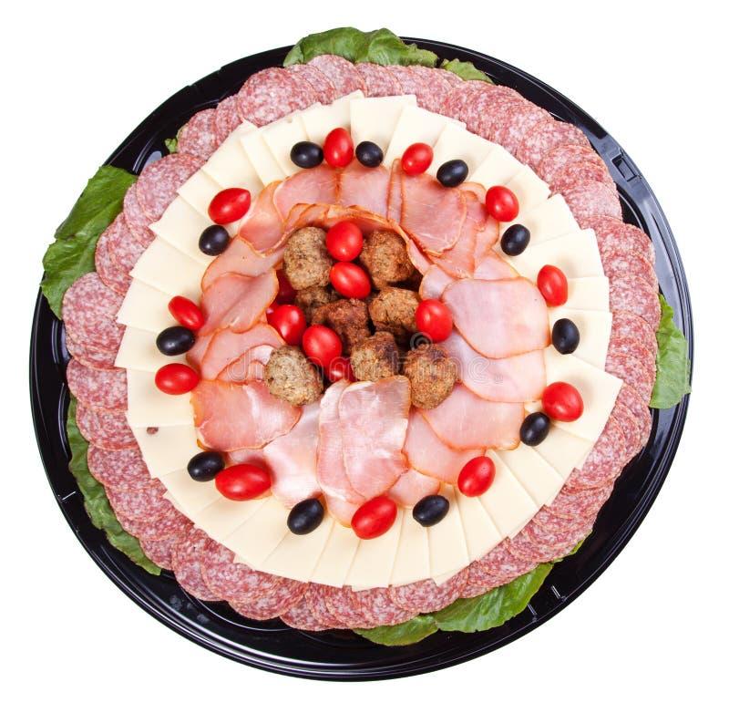 Sköta om för Meat och för ost royaltyfria bilder