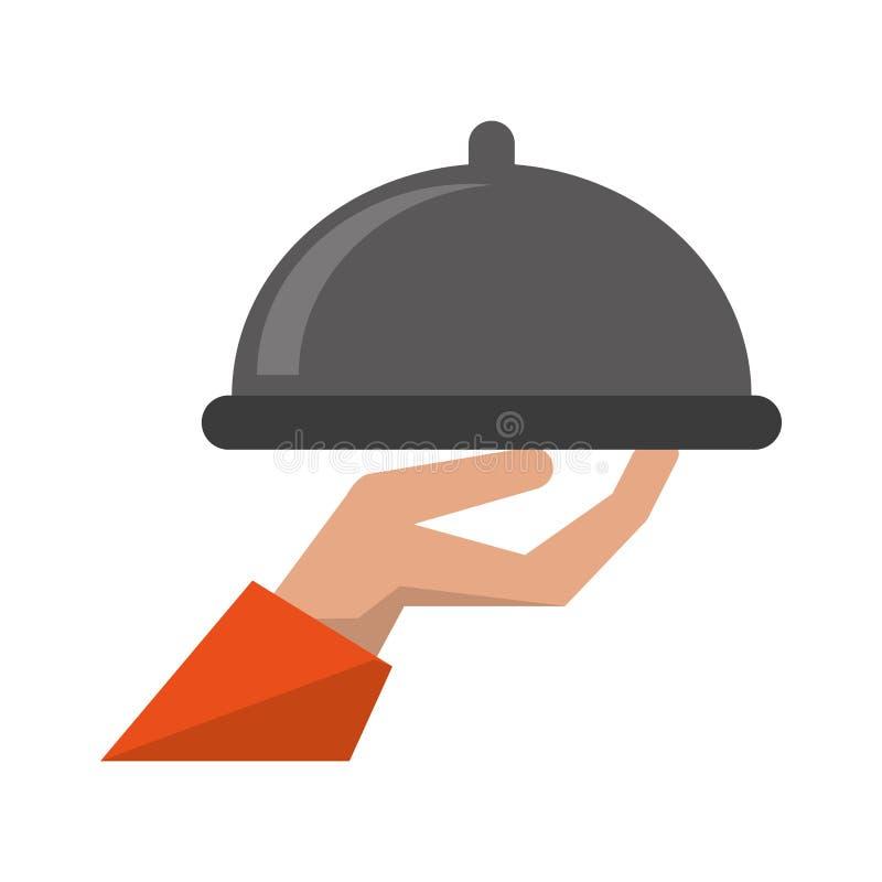 Sköta om mat för magasinuppassareservice stock illustrationer