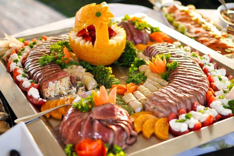 Sköta om upp mat, slut royaltyfria bilder