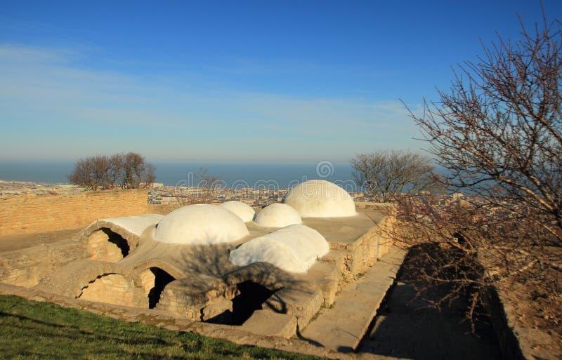 Skąpania w Sassanid Forteczny Naryn-Kala w Derbent mieście, republika Dagestan fotografia stock
