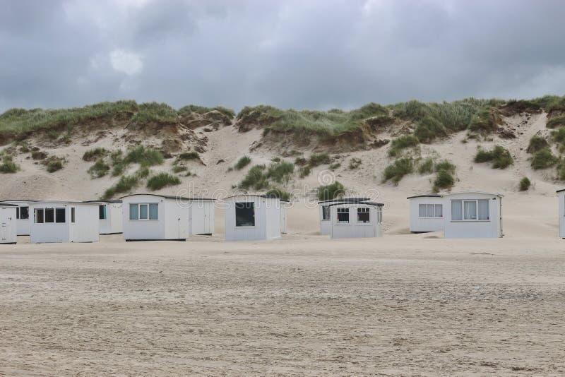Skąpanie domy na plaży Lokken, Dani obraz royalty free