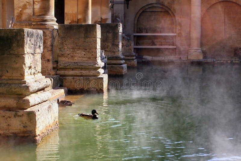 Skąpanie Kąpać Się England Rzymskiego Obrazy Royalty Free
