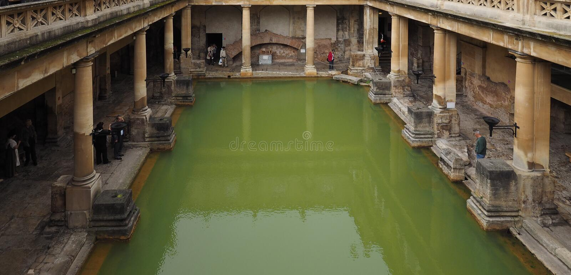 skąpanie kąpać się rzymskiego zdjęcie stock