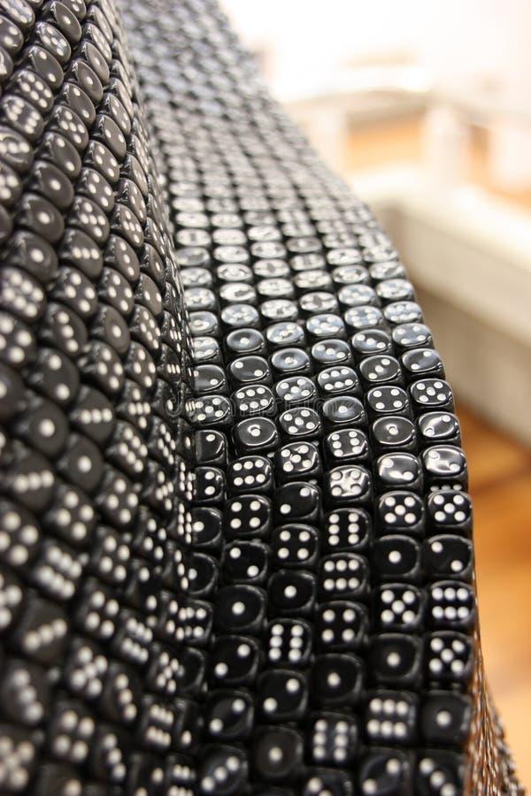 Skład od dices, symbolizujący variability przeznaczenie zdjęcie stock