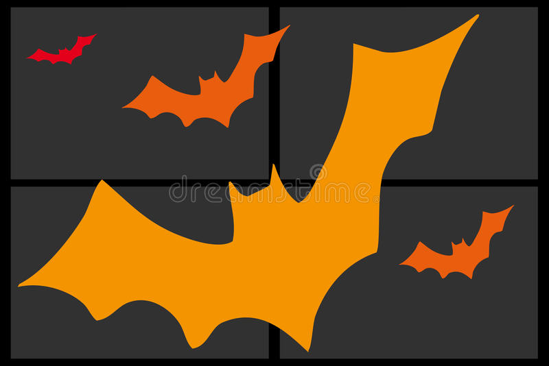 Skład pomarańczowi nietoperze fotografia royalty free