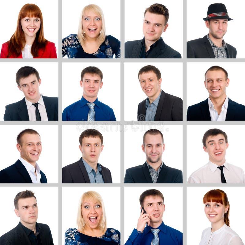 Skład pomyślni młodzi ludzie obrazy royalty free