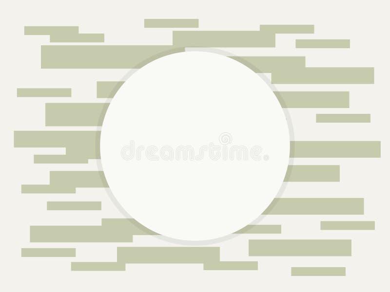 Skład prostokąty szara odcień cegieł elektronika technologia depeszuje tranzystor elektronika wianku round teren dla pisać wi royalty ilustracja