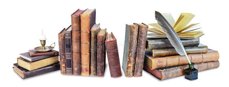 Skład stare książki zdjęcia stock
