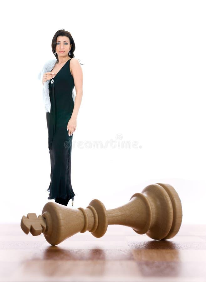 skład szachowa dama zdjęcia stock