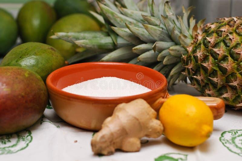 składników dżemu mango obraz stock